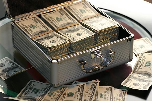 walizka pieniędzy